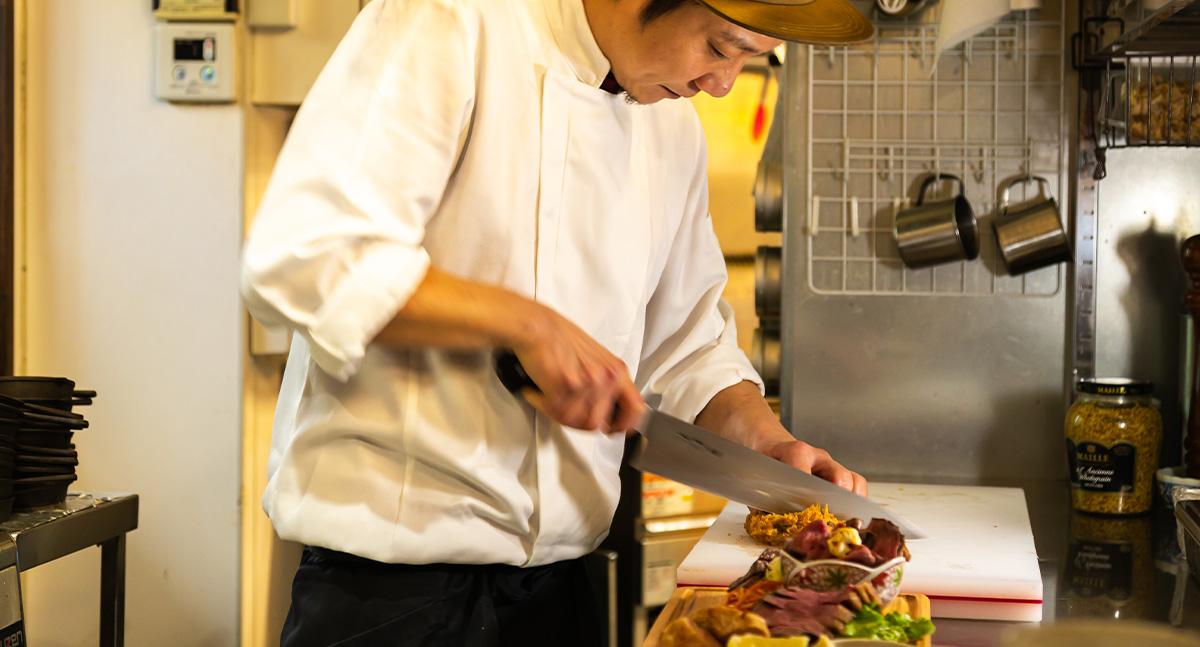 腕の良い料理人が妥協なく作る料理